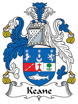 Keane Coat Of Arms Irish Print by Heraldry
