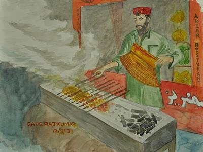 Mango Drawing - Kebab Maker by RajKumar Gade