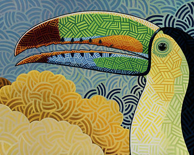 Toucan Painting - Keel-billed Toucan by Nathan Miller