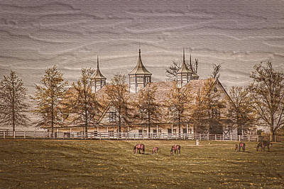 Keeneland Farm Photoart Print by Randall Branham