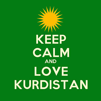 Turkey Painting - Keep Calm-and Love Kurdistan by Celestial Images