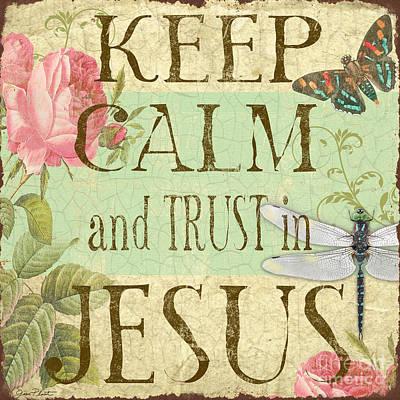 Keep Calm-trust In Jesus-3 Original by Jean Plout