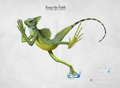 Keep The Faith Print by Rob Snow