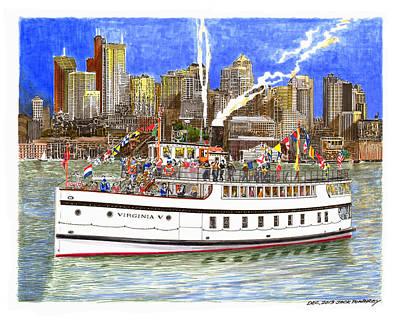 Seattles Steamship Virginia V Original by Jack Pumphrey