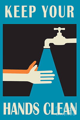 Faucet Digital Art - Keep Your Hands Clean by Igor Kislev