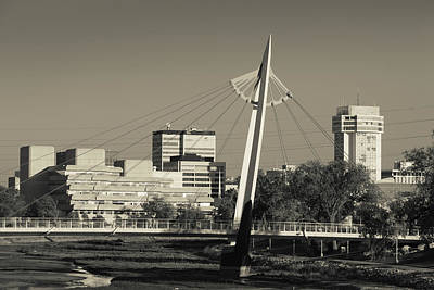 Keeper Of The Plains Footbridge Print by Panoramic Images