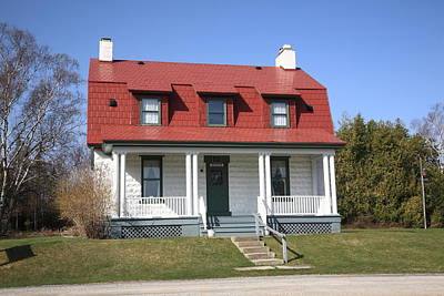 Sun Porch Photograph - Keeper's House - Presque Isle Light Michigan by Frank Romeo