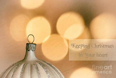 Backup Photograph - Keeping Christmas In Your Heart by Sabine Jacobs