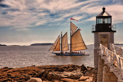 Coastal Maine Photograph - Keeping Vessels Safe by Karol Livote