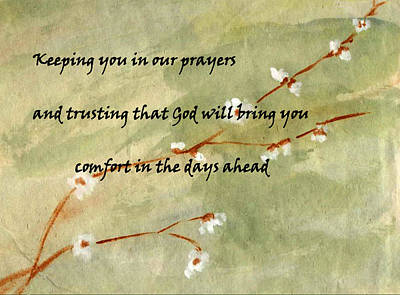 Comfort Painting - Keeping You In Our Prayers by Linda Feinberg