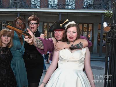 Keira's Destination Wedding - The Pirate Part Print by Kathleen K Parker