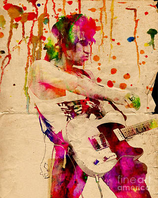 Then Painting - Keith Richards - The Rolling Stones  by Ryan Rock Artist