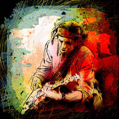 Keith Richards Digital Art - Keith Richards 03 Madness by Miki De Goodaboom