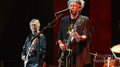 Clapton Mixed Media - Keith Richards And Eric Clapton by Marvin Blaine