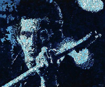 Keith Richards Print by Barry Novis