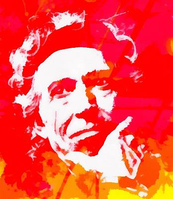 Rolling Stones Mixed Media - Keith Richards by Dan Sproul