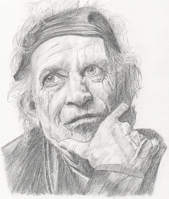 Keith Richards Drawing - Keith Richards by Keith Miller