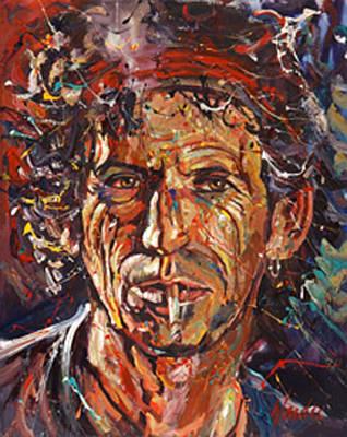 Keith Richards Original by Michael Wardle