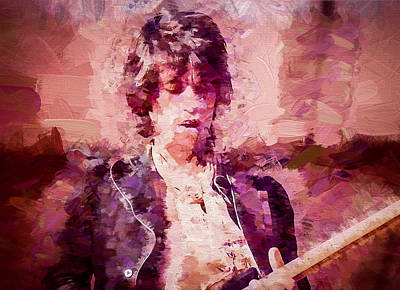 Keef Digital Art - Keith Richards by Vivian Frerichs