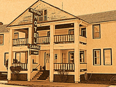 Old West Photograph - Kempton Hotel by Leland D Howard