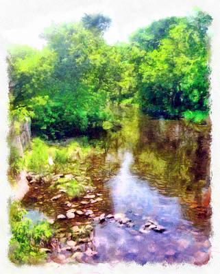 Manipulation Photograph - Kemptville Creek Watercolor by Mario Carini