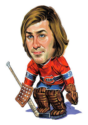 Painting - Ken Dryden by Art
