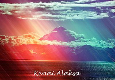 Kenai Alaska Mount Redoubt Print by Debra  Miller