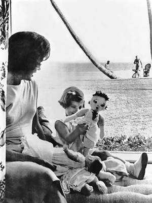 President And First Lady Photograph - Kennedy Family At Palm Beach by Underwood Archives