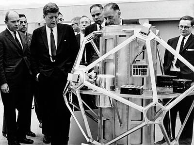 Kennedy Visiting Sandia Labs Print by Sandia National Laboratories