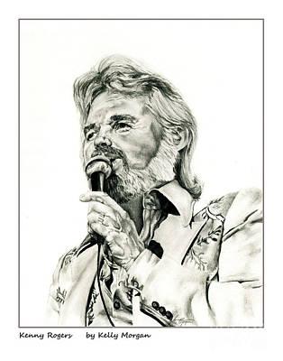 Kenny Rogers Print by Kelly Morgan