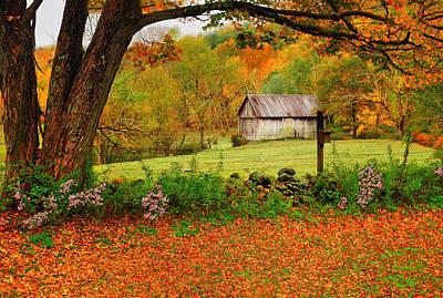 Kent Hollow-connecticut Autumn Scenic Print by Thomas Schoeller