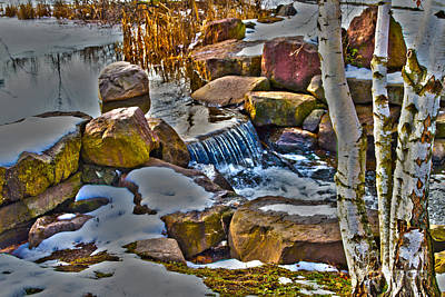 Webster Ny Photograph - Kent Park Outlet by William Norton
