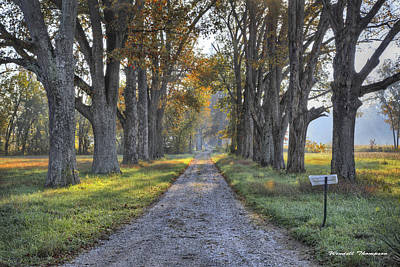Daviess County Kentucky Photograph - Kentucky Country Lane by Wendell Thompson