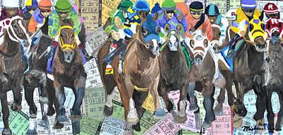 Kentucky Derby Mixed Media - Kentucky Derby 2014 by Michael Lee