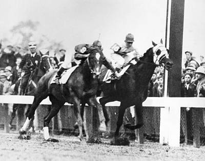 Kentucky Derby Foul Play Print by Underwood Archives