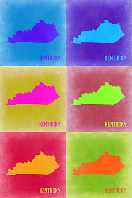 Pop Art Digital Art - Kentucky Pop Art Map 2 by Naxart Studio