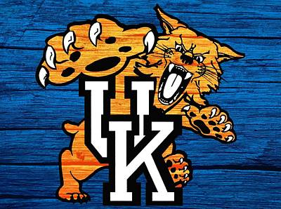 Basketball Mixed Media - Kentucky Wildcats Barn Door by Dan Sproul