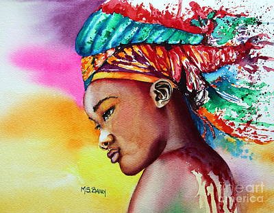 Exotic Beauty Painting - Kenya by Maria Barry