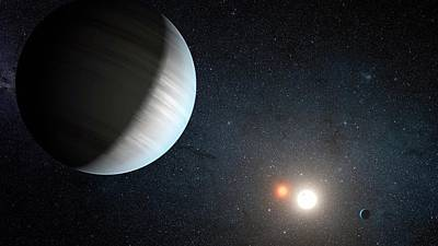 Kepler-47 Planetary System Print by Nasa/jpl-caltech/t. Pyle