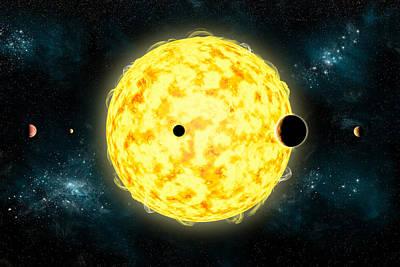 Planetary System Mixed Media - Kepler No.444 by Marc Ward