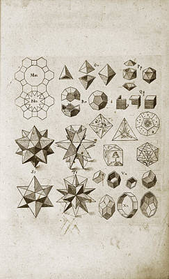 Kepler On Polyhedral Geometry Print by Library Of Congress