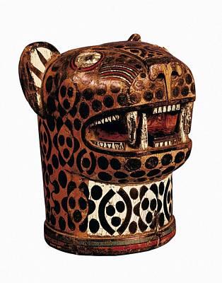 Precolumbian Photograph - Kero In Jaguar Shaped. 1438-1534. Inca by Everett