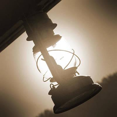 Oil Lamp Photograph - Kerosene Lantern by Mike McGlothlen