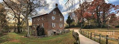 Kerr County Photograph - Kerr Grist Mill Panorama by Adam Jewell