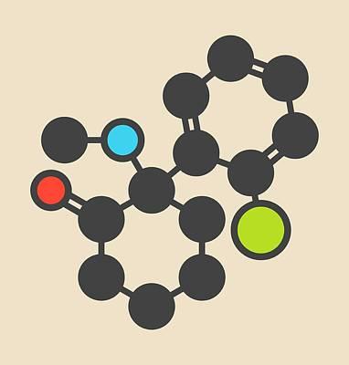 Ketamine Anesthetic Drug Molecule Print by Molekuul