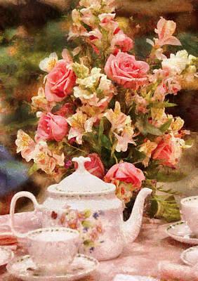 Kettle - More Tea Milady  Print by Mike Savad