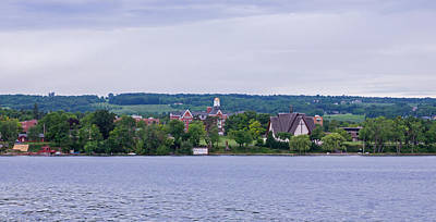 Tree Photograph - Keuka College From The Lake by Photographic Arts And Design Studio