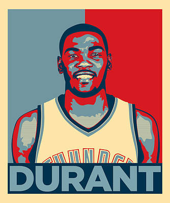Lebron James Digital Art - Kevin Durant by Taylan Soyturk