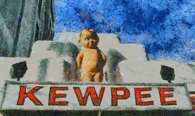 Local Restaurants Painting - Kewpee Restaurant Lima Ohio by Dan Sproul