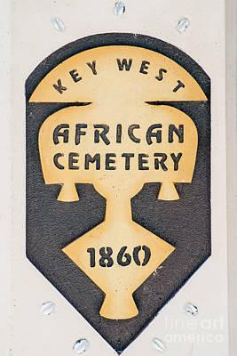 Key West African Cemetery 3 - Key West Print by Ian Monk